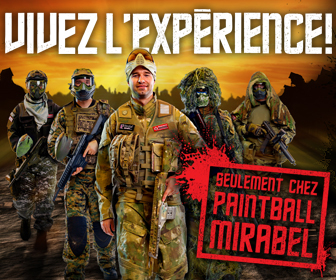 publicité Paintball Mirabel